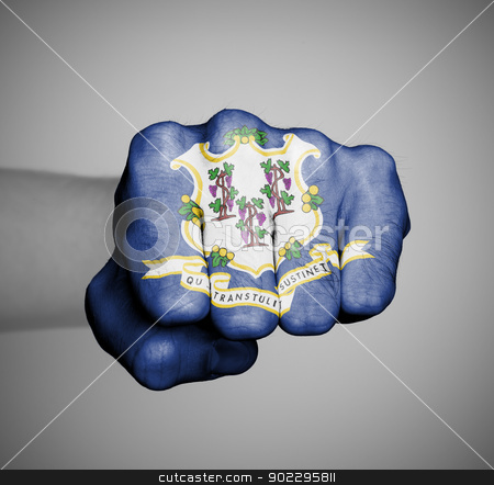 United states, fist with the flag of a state stock photo, United states, fist with the flag of a state, by michaklootwijk
