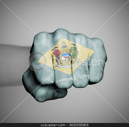 United states, fist with the flag of a state stock photo, United states, fist with the flag of a state, Delaware by michaklootwijk