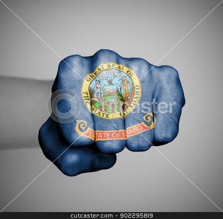 United states, fist with the flag of a state stock photo, United states, fist with the flag of a state, Idaho by michaklootwijk