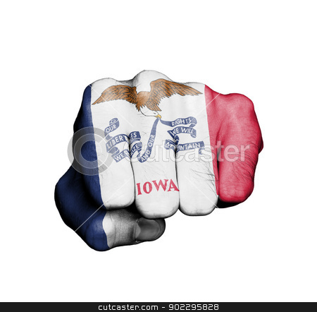United states, fist with the flag of a state stock photo, United states, fist with the flag of a state, Iowa by michaklootwijk