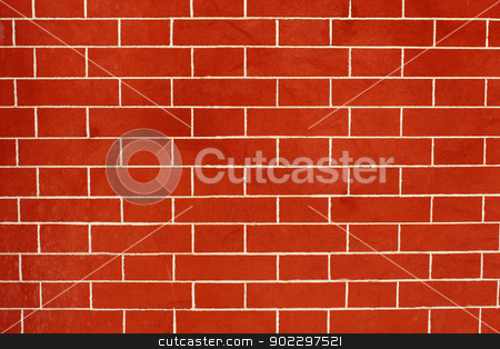 Brick wall background stock photo, Red brick wall background by SergeyK787