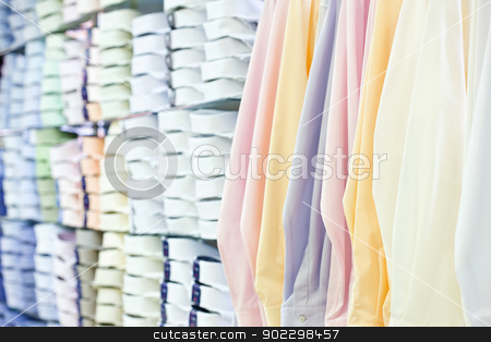 mens wear store stock photo, mens wear store, business clothing - shirts by iMarin