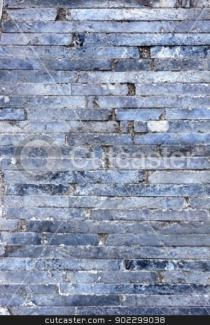 Clinker Walkway stock photo, Old gray small shelf clinker walkway. by Henrik Lehnerer