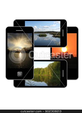 Modern phone of type  ipad stock photo, The image of modern phone of type  ipad by Alexander Matvienko