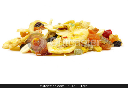 mix dried fruits  stock photo, mix dried fruits collection on white by Vitaliy Pakhnyushchyy