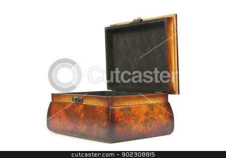 casket  stock photo, Wooden casket isolated on a white background by Vitaliy Pakhnyushchyy