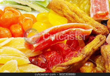 dried fruits stock photo, Background made of assorted dried fruits by Vitaliy Pakhnyushchyy