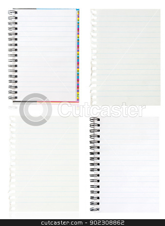 page ripped  stock photo, A page ripped off from the notebook by Vitaliy Pakhnyushchyy