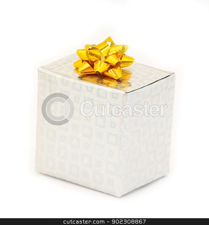 box stock photo, A present box wit bow on white by Vitaliy Pakhnyushchyy