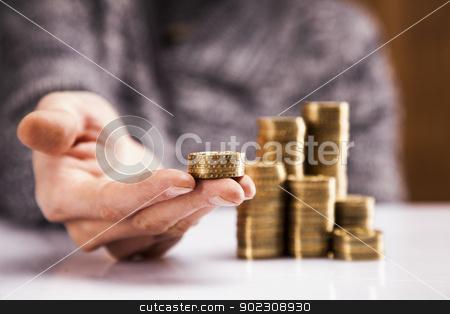 Men counting money! Studio shots stock photo, Men counting money! Studio shots by fikmik