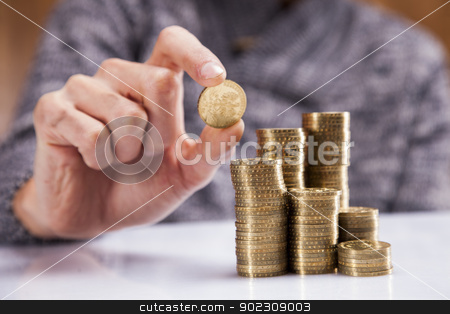 Men counting money! Studio shots stock photo, Men counting money! Studio shots by fikmik