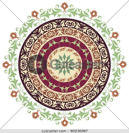 Circular Ornament stock vector clipart, circle ornament (eastern style) by Sevgi Dal