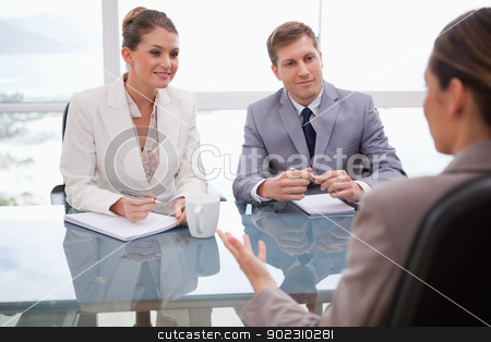 Business people in negotiation stock photo, Business people in a negotiation by Wavebreak Media