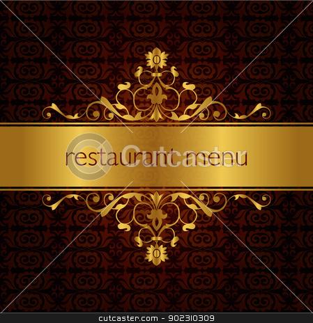 restaurant menu design_01 stock vector clipart, restaurant menu traditional design (seamless pattern) by Sevgi Dal