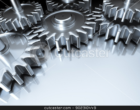 gears background stock photo, An image of some nice steel gears by Markus Gann