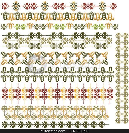 turkish border01 stock vector clipart, turkish border set by Sevgi Dal