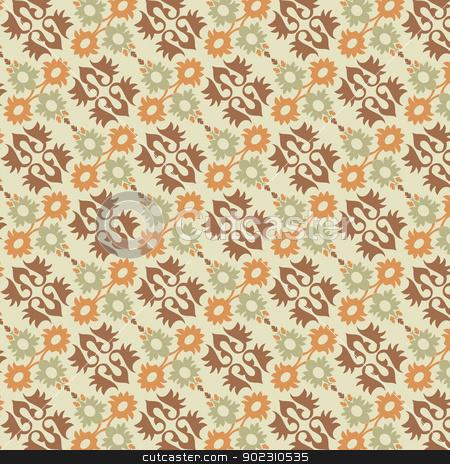 ottoman seamless pattern_01 stock vector clipart, ottoman seamless pattern (eastern style) by Sevgi Dal