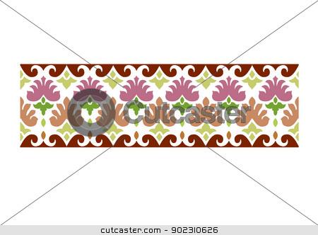 ottoman seamless pattern_02_basic stock vector clipart, ottoman seamless pattern basic by Sevgi Dal