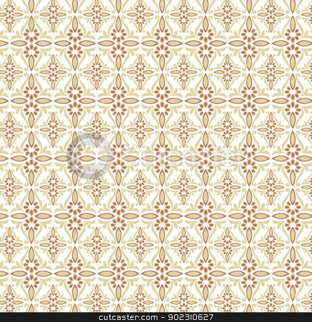 seamless pattern eastern stock vector clipart, seamles pattern design (eastern style) by Sevgi Dal