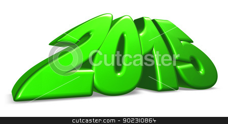 year 2015 stock photo, year number 2015 on white background - 3d illustration by J?