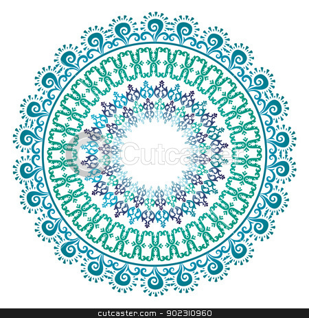 Oriental pattern and ornaments_07 stock vector clipart, Oriental pattern and ornaments (circular pattern) by Sevgi Dal