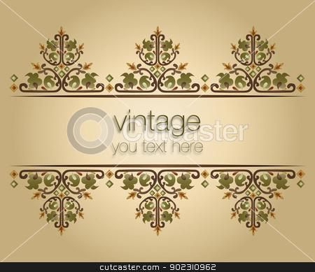 ornate vintage frames_01 stock vector clipart, ornate vintage frames (turkish design) by Sevgi Dal