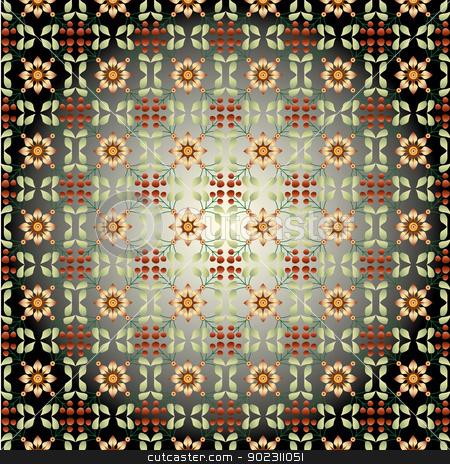 seamless pattern design_01 stock vector clipart, seamles pattern design (eastern style) by Sevgi Dal
