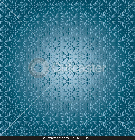 seamless pattern eastern_01 stock vector clipart, seamless pattern eastern (blue pattern) by Sevgi Dal