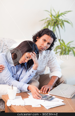 Couple underestimated their expenses stock photo, Young couple underestimated their expenses by Wavebreak Media