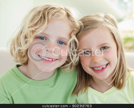 Smiling siblings stock photo, Happy smiling siblings by Wavebreak Media