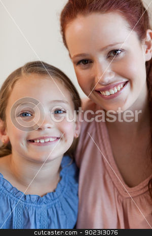 Smiling mother and daughter stock photo, Happy smiling mother and daughter by Wavebreak Media
