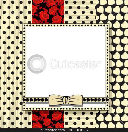 Valentine celebration card stock vector clipart, Celebration card for Valentine's Day  by Richard Laschon