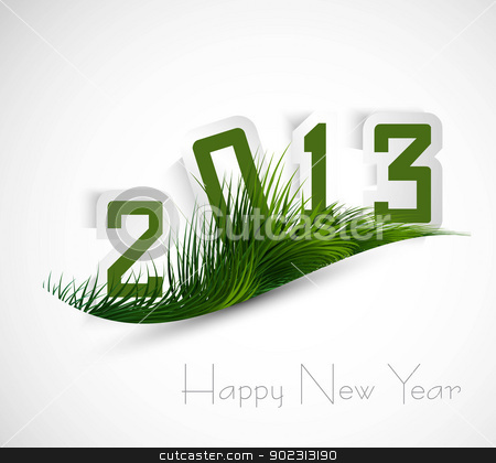 Green grass wave stylish 2013 vector whit background stock vector clipart, Green grass wave stylish 2013 vector whit background by bharat pandey
