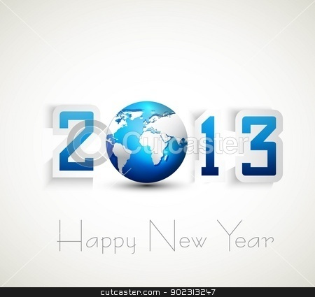 2013 happy new year celebration and business presentations vecto stock vector clipart, 2013 happy new year celebration and business presentations vector design by bharat pandey