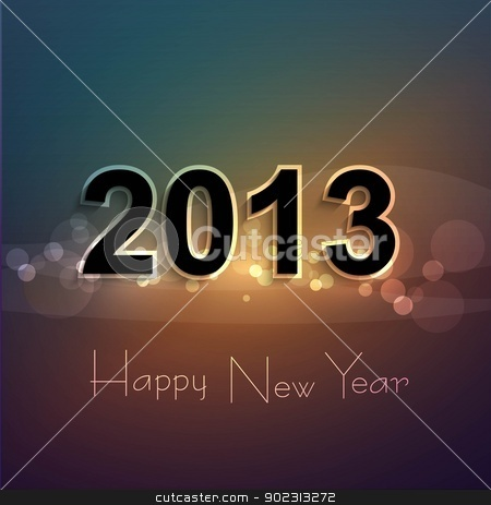 Happy new year shiny 2013 colorful celebration vector background stock vector clipart, Happy new year shiny 2013 colorful celebration vector background by bharat pandey