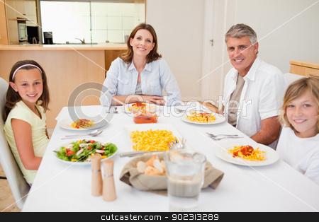 Family having dinner stock photo, Family having dinner together by Wavebreak Media