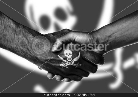 Man and woman shaking hands stock photo, Man and woman shaking hands, isolated on white, Pirate by michaklootwijk