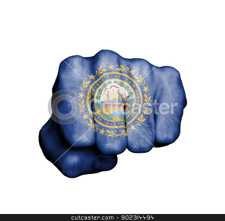 United states, fist with the flag of New Hampshire stock photo, United states, fist with the flag of a state, New Hampshire by michaklootwijk
