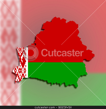 Map of Belarus filled with flag stock photo, Map of Belarus filled with flag, isolated by michaklootwijk