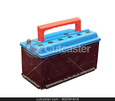 car battery over white stock photo, used car battery isolated over white background by coroiu octavian