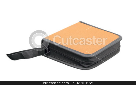isolated cd wallet stock photo, closed cd wallet isolated over white background by coroiu octavian