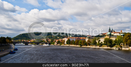Prague stock photo, aerial view of the old town of Prague by Juliane Jacobs