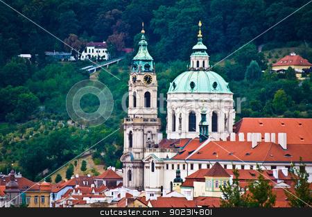 St Nicolas stock photo, view of the church St Nicolas in Prague by Juliane Jacobs