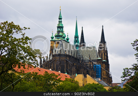 Castle of Prague stock photo, view of the old castle of Prague by Juliane Jacobs