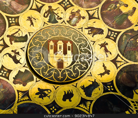 Astronomical clock stock photo, detail of the astronomical clock in Prague by Juliane Jacobs