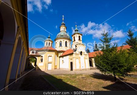Church at the white mountain stock photo, famous old Church at the white mountain in Prague by Juliane Jacobs