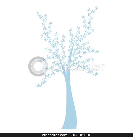 Art Tree stock vector clipart, Art tree isolated on white background by Sasas Design