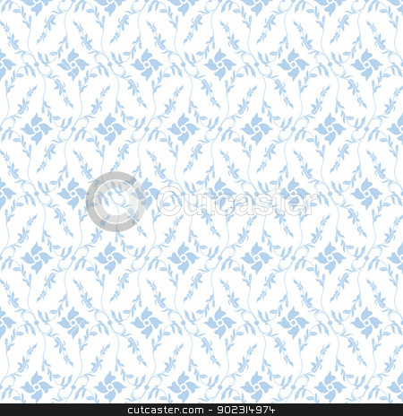 Seamless Floral Pattern stock vector clipart, Beautiful background of  seamless flroal pattern by Sasas Design