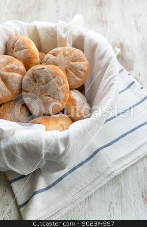 Rustic bread stock photo, Baked bread  by Giordano Aita