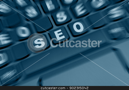 SEO Sign stock photo, Search Engine Optimization - SEO on Keyboard Keys by JAMDesign